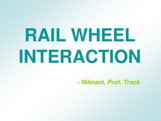 RAIL WHEEL INTERACTION        - Nilmani, Prof. Track