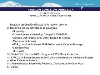 22-04-09 -10 Horas Thames 2334 Piso 16 depto A Buenos Aires