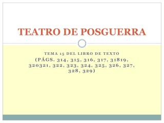 TEATRO DE POSGUERRA