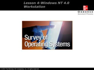 Lesson 4-Windows NT 4.0  Workstation