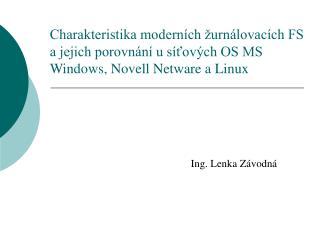 Ing. Lenka Závodná