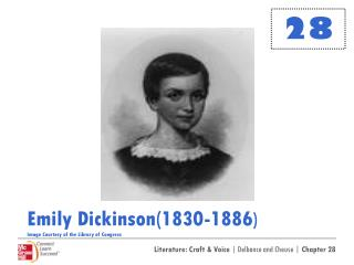 Emily Dickinson(1830-1886 ) Image Courtesy of the Library of Congress