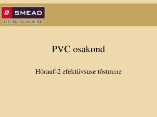 PVC osakond