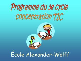 Programme du 3e cycle concentration TIC