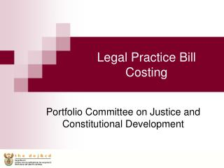 Legal Practice Bill Costing
