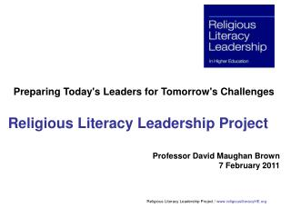 Religious Literacy Leadership Project
