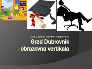 Grad Dubrovnik - obrazovna vertikala