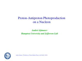 Proton-Antiproton Photoproduction on a Nucleon