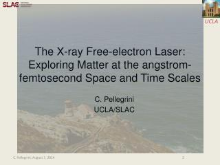 The X-ray Free-electron Laser: Exploring Matter at the angstrom-femtosecond Space and Time Scales