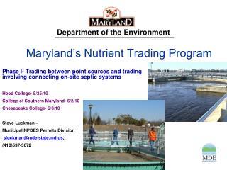 Maryland s Nutrient Trading Program
