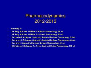 Pharmacodynamics 20 12-2013