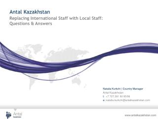 Replacing International Staff with Local Staff:  Questions & Answers