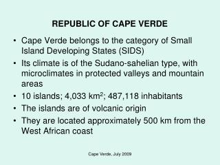 REPUBLIC OF CAPE VERDE