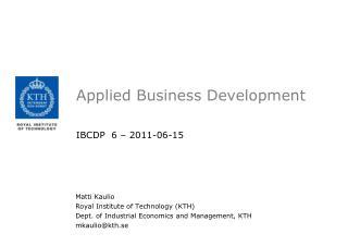 Applied Business Development
