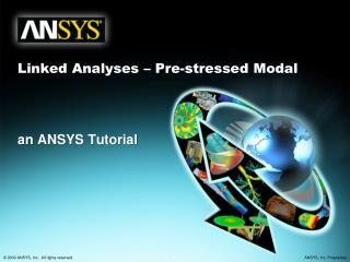 Linked Analyses – Pre-stressed Modal
