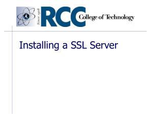 Installing a SSL Server
