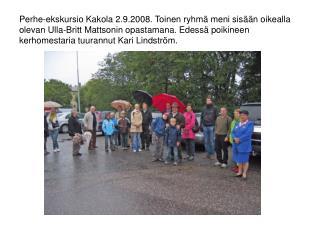 Perhe-ekskursio Kakola 2.9..2008. Näkymä keskusvankilan käytävästä.
