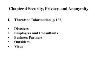 Chapter 4 Security, Privacy, and Anonymity