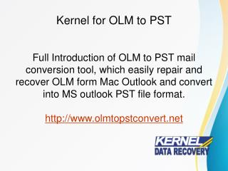 Free Tool for OLM to PST Converter