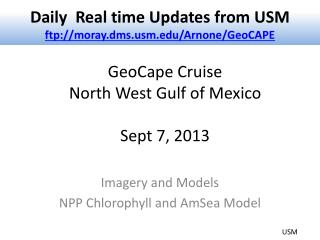 GeoCape  Cruise  North West Gulf of Mexico Sept 7, 2013