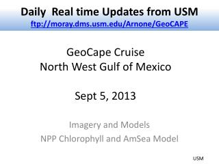 GeoCape  Cruise  North West Gulf of Mexico Sept 5, 2013