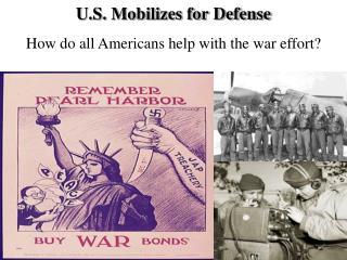 U.S. Mobilizes for Defense