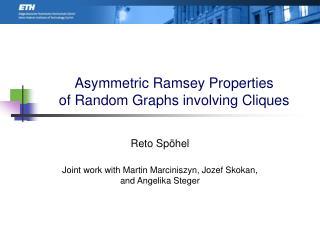 Asymmetric Ramsey Properties of Random Graphs involving Cliques