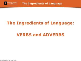 The Ingredients of Language