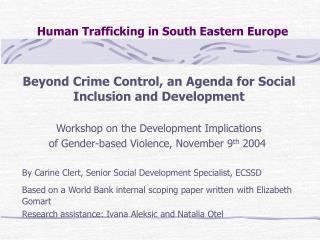 Human Trafficking in South Eastern Europe