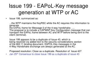 Issue 199 - EAPoL-Key message generation at WTP or AC