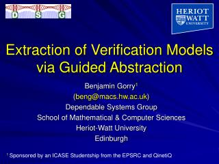Extraction of Verification Models via Guided Abstraction