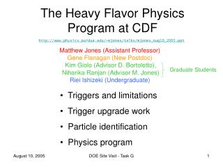 The Heavy Flavor Physics Program at CDF