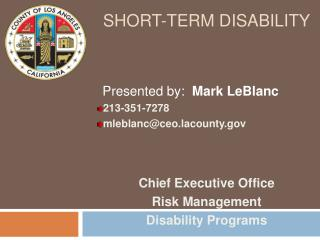Short-term disability