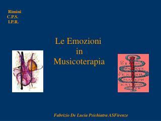 Le Emozioni              in    Musicoterapia