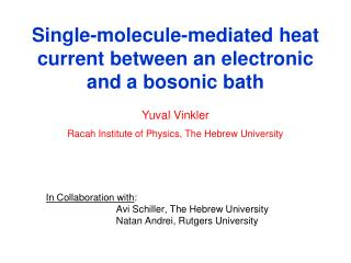 Single-molecule-mediated heat current between an electronic and a bosonic bath