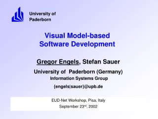 Visual Model-based  Software Development