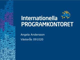 Angela Andersson Västerås 091020