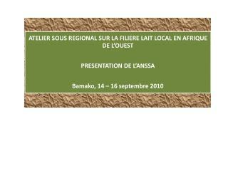 Plan de présentation : 1. Introduction  2. Activités d'évaluation des laiteries