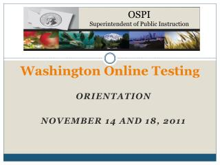 Washington Online Testing