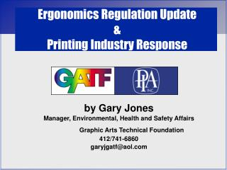 Ergonomics Regulation Update & Printing Industry Response