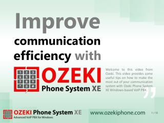 Improve communication efficiency  with