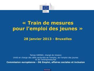 ��Train de mesures  pour l�emploi des jeunes�� 28 janvier 2013 - Bruxelles