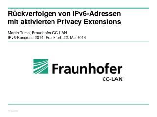 Rückverfolgen von IPv6-Adressen mit aktivierten Privacy Extensions