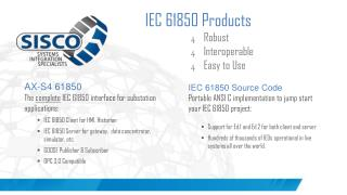 IEC 61850 Products Robust Interoperable Easy to Use