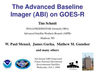 The Advanced Baseline Imager (ABI) on GOES-R