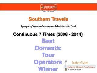 Best Tour Operator in India - Southern Travels