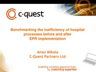 Benchmarking the inefficiency of hospital processes before and after EPR implementation