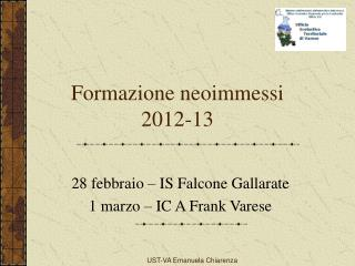 Formazione neoimmessi 2012-13