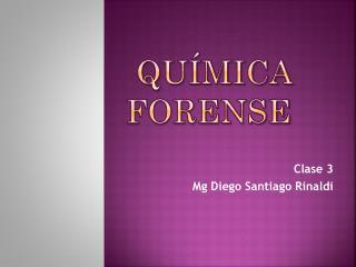 Qu�mica Forense