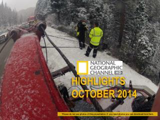 HIGHLIGHTS OCTOBER 2014
